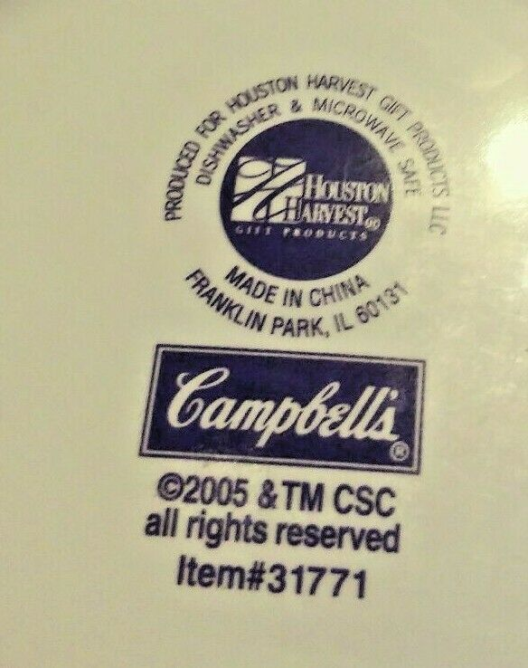 VINTAGE 2005 CAMPBELLS SOUP COLLECTIBLE BOWL / CUP ITEM # 31771 image 11