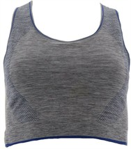 Tracy Anderson GILI Seamless Reversible Sports Bra Grey Deep Blue 1X NEW... - $19.78