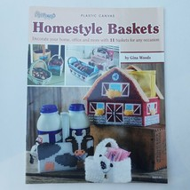 Plastic Canvas Homestyle Baskets by Gina Woods - $13.57