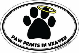 Ovalado Mascota Imán Huella de Perro Heaven Coche Refrigerador con Orgullo - $15.10 CAD
