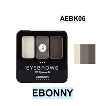 ABSOLUTE NEW YORK NEW HD EYEBROW KIT COLOR: EBONNY  AEBK06 - $3.91