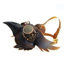 Reenactment Plague Doctor Steampunk Bird Leather Mask Halloween Gothic Cosplay image 6