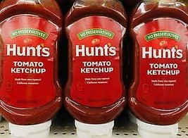6 Squeeze Bottles of Hunt's Tomato Ketchup 20 Oz *~* FAST FREE SHIPPING ... - $19.79