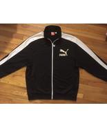 Puma Sport Lifestyle Black White Full Zip Up Warm Up Track Jacket Extra ... - $24.99