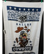 "NFL Dallas Cowboys Tazmanian Devil Warner Bros Towel 33"" x 60"" - $29.95"