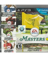 Tiger Woods PGA Tour 2007-10 & Masters 2012 Lot of 5 for Sony Playstatio... - $41.79