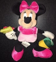 Disney Bean Bag Plush MINNIE GONE SHOPPING Mouse 8 inch Pink - $9.50