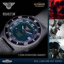 Blue Seals Watch The Ultimate Warrior Automatic 200m Green BSU021W - $329.00
