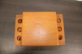 "Vintage Large 12"" Dunhill Wood Pipe & Cigar Holder Stand Rack Stash Box Tobacco image 6"