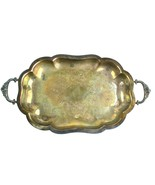 Vintage Wallace Marked 2422 Silver Plate Footed w/handles Serving Tray 1... - $28.02
