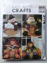 McCall's Crafts 3776 Decorated Baskets Santa Snowman Turkey Witch Uncut Pattern - $8.97