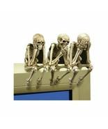 See, Hear, and Speak no Evil Shelf Sitter Skeleton Figurine (Set of 3 pi... - $27.06