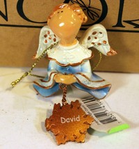 Christmas Ornaments - WHOLESALE- Russ Berrie #6405 - 3 ANGELS- 'DAVID'- New W75 - $5.83