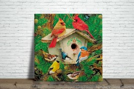 Cardinal Bird Illustration Ceramic Wall tile 6 X 6 inch, #2 - $12.50