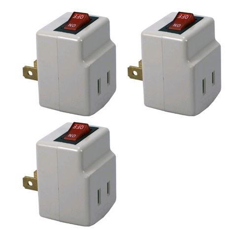 Single Port Power Adapter for Outlet with On/Off Switch to be Energy Saving - 3