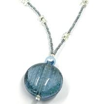 Halskette Antica Murrina Venezia, CO793A04, Disco Anhänger, Blau image 2
