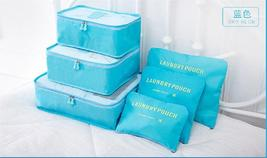 Cute Candy Color 6 pcs Packing Organizer set Travel Cube suitcase Pouch ... - £14.95 GBP