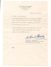 VINTAGE WWII SIGNATURE LETTER DR. LOUIS GOLDBERG COMMANDER JEWISH WAR VE... - $9.99