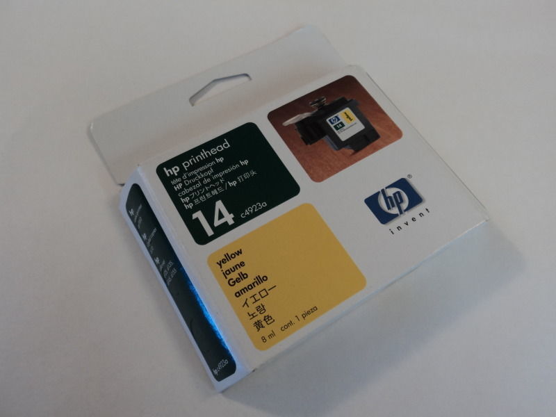 HP Printhead Yellow 14 Printer Copier Genuine/OEM c4923a
