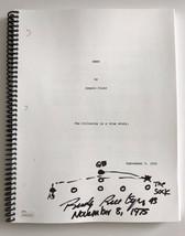 "RUDY RUETTIGER SIGNED ""RUDY"" MOVIE SCRIPT W/ ""HAND DRAWN PLAY"" JSA COA A... - $399.00"