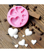 3D DIY Heart Fondant Mold Silicone Cake Decorating Craft Sugar Chocolate... - $8.60