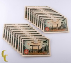 1945 Japanese 50 Sen Notes Lot of 20 Pieces All Uncirculated Condition - $77.95