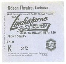 RARE Lindisfarne 1/2/87 Birmingham England Odeon Theatre Concert Ticket ... - $8.90