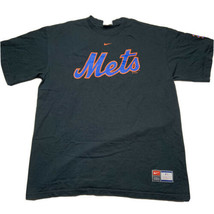 Nike Team Sports Men's Size Large New York Mets Spellout T Shirt Black 2005 - $24.93