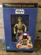 Star Wars C-3PO Jedi-Con 2001 Jouet Figurine Articulée Hasbro Nouveau Co... - $104.09