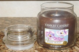 Yankee Candle Sweet Violet NEW 14.5 oz GLASS JAR RARE HARD TO FIND SCENT - $85.42