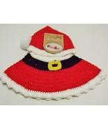 So Dorable Hand Crocheted 2 Piece Set Santa Hat Skirt Baby 0-6 months Photo Prop - $12.99