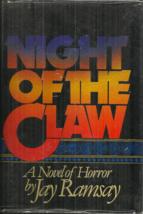 NIGHT OF THE CLAW - A NOVEL OF HORROR Jay Ramsay aka RAMSEY CAMPBELL - 1... - $21.50