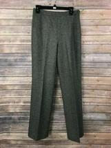 J. Crew Women's Gray 100% Wool Dress Pants Size 8 Inseam 31.5 - $17.82