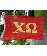 Chi Omega 2 By 3 Ft Red Sorority Fraternity College flag - $17.82