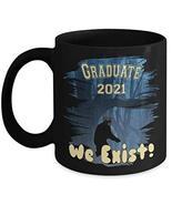 PixiDoodle Graduation Coffee Mug - Class of 2021 Sasquatch Quarantine (1... - $20.89