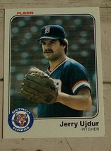 Jerry Ujdur, Tigers,  1983  #346  Fleer  Baseball Card,  GOOD CONDITION - $0.99