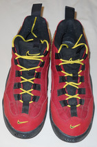 Vtg 90's Nike Athletic Shoes Red Yellow Black Size 6 Youth/Women's Size 7.5 RARE - $19.00