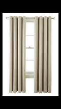 """Liz Claiborne Beige Grommet Panel Curtain Room Darkening 50"""" X 84"""" New - $22.77"""