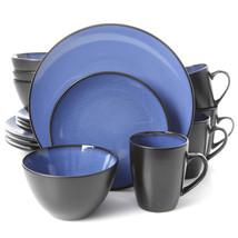 Gibson Elite Soho Lounge Round 16-Piece Dinnerware Set, Blue - $79.84