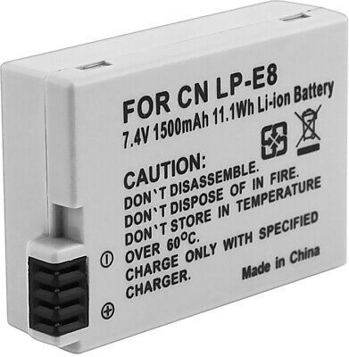 INSTEN Battery For Canon LP-E8/ Rebel T3i/ T2i/ 550D (Pack Of 2)