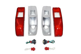 66-77 FORD Bronco Light Lens Set With Housing F100 F-100 F150 F-150 F-Series image 6