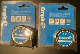 EMPIRE 500AL-12 12' Auto Lock Tape Measure 2 Tapes - $9.90