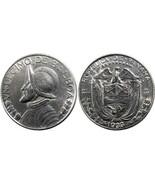 PANAMA 1933 1/10 VASCO NUNEZ BALBOA DECIMO SILVER COIN DEPRESSION ERA KM... - €67,22 EUR
