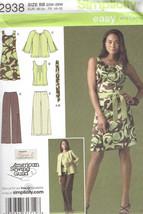 Pants Dress Jacket Top Women's size 20w-28w Simplicity 2938 Sewing Pattern  - $9.40