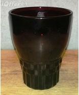 MID CENTURY MODERN 1960'S RETRO- ANCHOR HOCKING GLASS ROYAL RUBY JUICE G... - $8.95