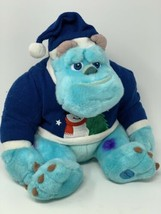 "Disney Store Plush Monsters Inc Sully in Snowman Sweater 11"" Sitting Stu... - $14.85"