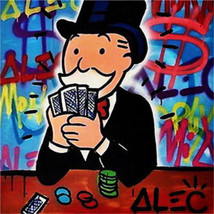 Alec Monopoly Oil Painting Wall Decor Art Canvas graffiti art Street,gam... - $23.76