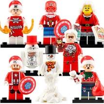 8Pcs Iron Man Phoenix Snowman Steve Roger Christmas Woman Kids Marvel Mi... - $15.99
