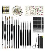 Nail Art Tools Fashion Design - 8 Size Painting Brushes, 5 Carving/Dotti... - $23.75