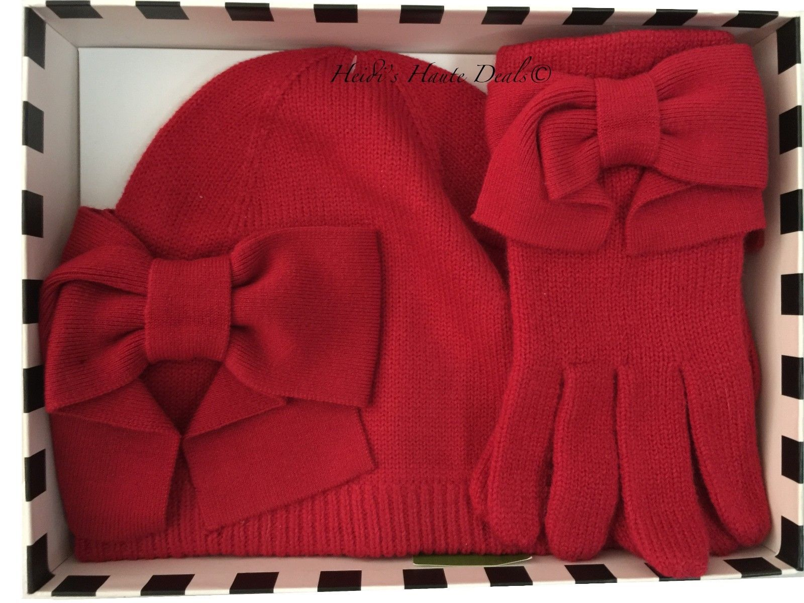 317116f122cdc NWT Kate Spade Dorothy Red Bow Beanie Hat and 48 similar items. S l1600 1